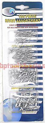 100pc Pop Rivet Assortment Set 18 532 316 732 Aluminum Pop Rivets Set