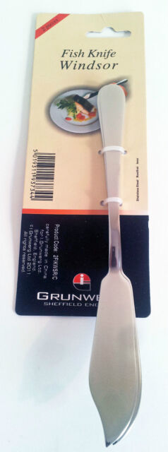 2pck of Fish Knves in stainless steel by Windsor for Grunwerg2FIKWSRC