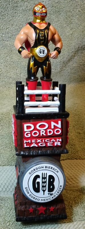 "beer tap handle lucha libre, Don Gordo 10.5"" new in box...."