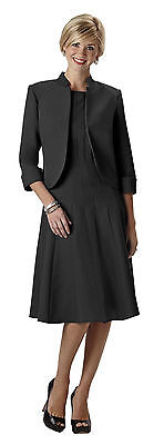 Wear Abouts Womens Miracle Jacket Dress Black Size 14 Nwt