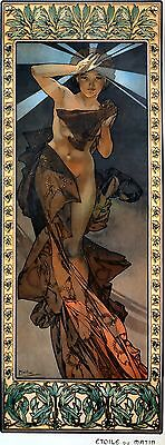 wall hanging ornaments Morning Awakening Alphonse Mucha art nouveau
