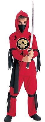 Stealth Ninja Japanese Samurai Warrior Red Mortal Kombat Karate - Child Costume](Mortal Kombat Ninja Costume)