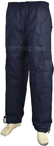 Mens  Elasticated Fleece Lined Thermal Showerproof Trousers Fishing  Hunting