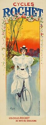 Cycles Rochet Bicycles 1897 Vintage Bike Advertising Giclee Canvas Print 15x40