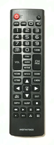 New Lg Replacement Tv Remote Control Akb74475433 For Lg Lcd Led Smart Tv