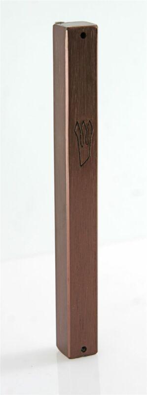 Bronze plated Mezuzah Mezuza Case 12cm Judaica Jewish shaddi Aluminum Design