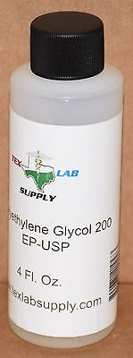 Tex Lab Supply Polyethylene Glycol 200 Peg 200 Nfusp 4 Fl. Oz.
