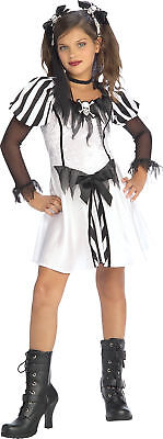 Girls Pirate Hair (Punky Pirate Child Girls Costume With Hair Ties Fancy Dress Up Halloween)