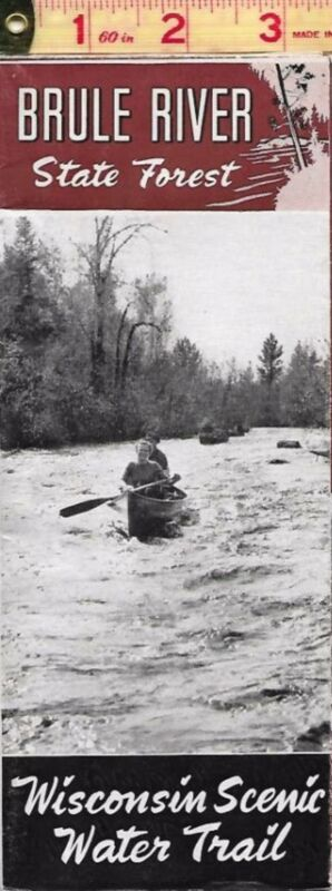 1950 Wisconsin Brule River State Forest Brochure