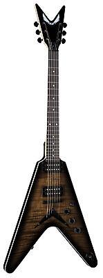 Dean VX FM CHB Flame Top Solid-Body Electric Guitar, Charcoal Burst