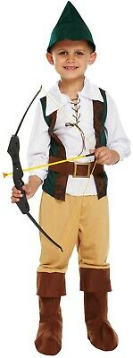 Boys Dressing Up Outfit (Hunter Robin Hood Boys Fancy Dressing Up Costume World Book Day)