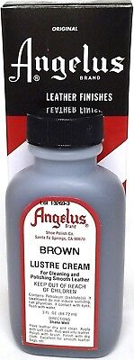 Angelus BROWN LUSTRE CREAM Cleaner Polish Conditioner Leather shoe & boot luster