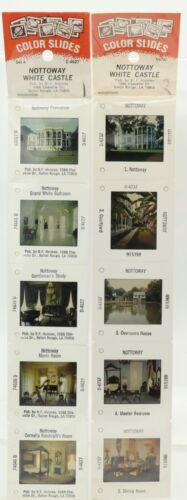 10 Vintage 35mm Color Slides Nottoway White Castle Louisiana by B.F. Holmes