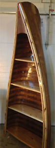 RUSTIC ANTIQUE CANOE SHELF