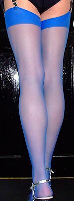 Me in my Electric Blue 15 Denier Stockings