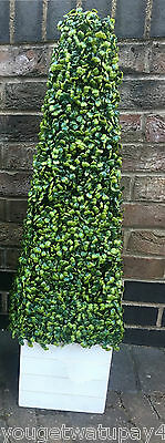 1  ARTIFICIAL TOPIARY BOXWOOD TREE PLANT PYRAMID CONE APPROX 3FT HIGH