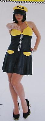 Taxi Kostüm / Kleid für Erwachsene Karneval Halloween Grösse S ohne Kappe ()
