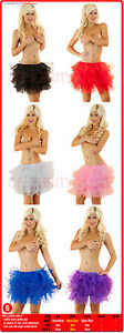 New Ladies Burlesque Petticoat Tutu Long Skirt Underskirt Fancy Dress Costume