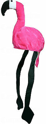 Plush Pink Flamingo Tropical Bird Novelty Costume Hat