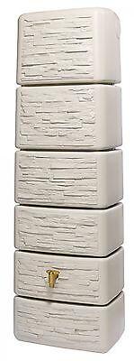 Regenwasser Wandtank Slim 300 Liter Stone Dekor sandbeige 4Rain 211812