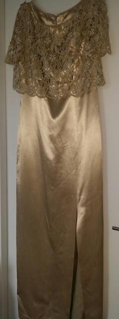 Designer Teena Varigos Size 10 Golden Ball Room Formal