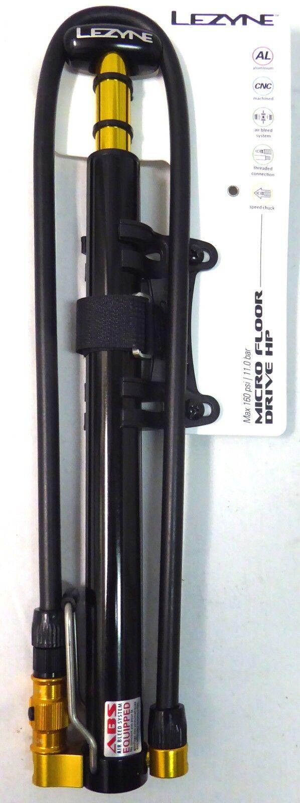 Lezyne MFDR-V2HP Micro Floor Drive Hand CNC Lezyne Silver//HiGloss Hand Pump