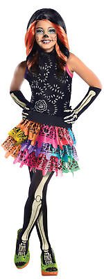 Monster High Theme Colors (Monster High Skelita Calaveras Child Costume Colorful Theme Party)