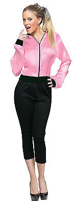 Adult 50s Grease Hot Pink Ladies Satin Jacket Costume](Hot Pink Costumes)
