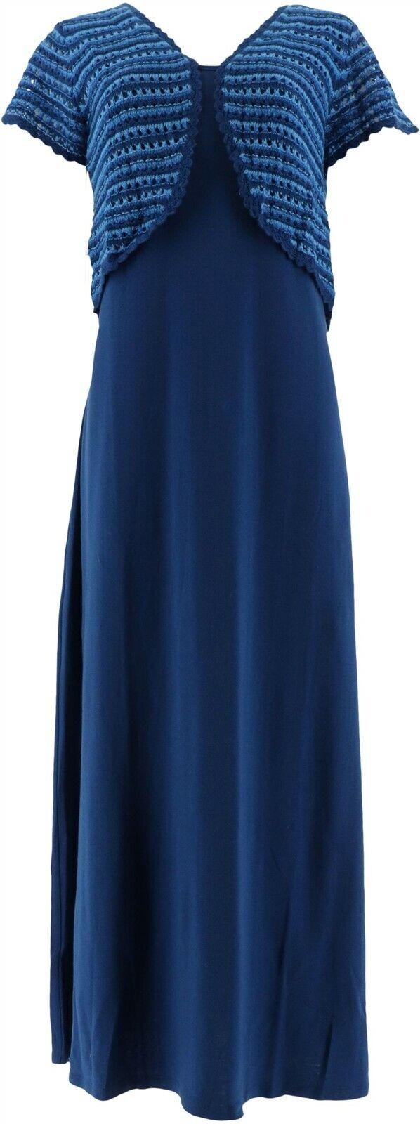 Attitudes Renee Como Jersey Slvless Mock Neck Dress Tangerine M NEW A301367