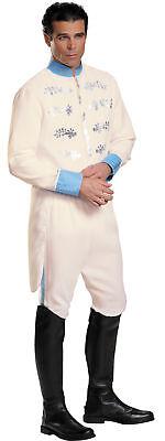 Prince Charming Erwachsene Herren-Kostüm Cinderella Disney Weiß Jacke Halloween ()