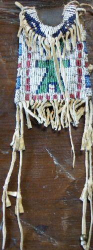 Antique 19th CenturyArapaho Indian Beaded Hide Strike-A-Lite Bag