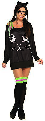 Co-Ed Kitty Feline Cat Women's Halloween Casual Costume Shirt & Knee Highs STD - Catwomen Costume