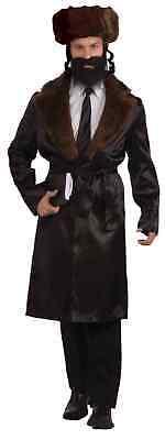 Rabbi Adult Men's Costume Jewish Orthodox Religious Black Coat & Belt STD-XL