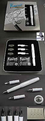 #  Kaweco Sport Kalligrafie Füller Set in weiß mit Box 4 Kalligraphie Federn  #