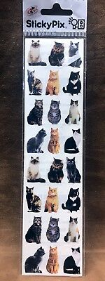 CAT Sticky Pix Stickers Paper House  kitten•tom cat•family pet•animal