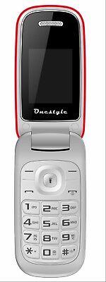 Onestyle Shell DUAL-SIM, Handy mit Klappe und Tastatur einfach und günstig, rot  ()
