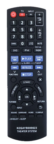New Panasonic Replacement Remote N2qayb000623 For Panasonic Home Theater System