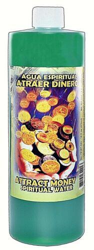 ATTRACT MONEY-ATRAER DINERO  ESPIRITUAL SPIRITUAL WATER 16 OZ -MAGICK, WICCA