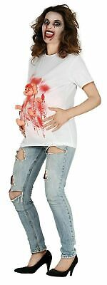 Pregnant Zombie Baby Hands Legs Ladies Fancy Dress Halloween Womens Costume Prop