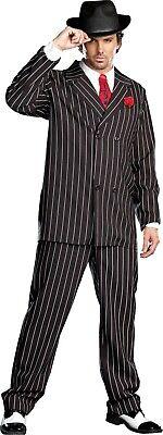 Mens 1920 Suits (GANGSTA MENS COSTUME ZOOT SUIT GANGSTER)
