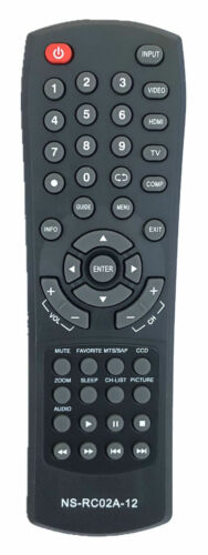 New Remote Control Forl Insignia Ns-rc02a-12 Remote For All Insignia Led Lcd Tv