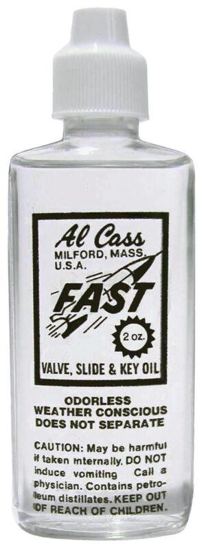 AL CASS FAST VALVE, SLIDE & KEY OIL (2 0Z.) BOTTLE FOR BACH TRUMPETS & MORE