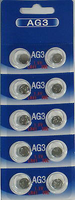10 Pk AG3 LR41 392 392A SR736 LR736 Alkaline Button Cell Battery