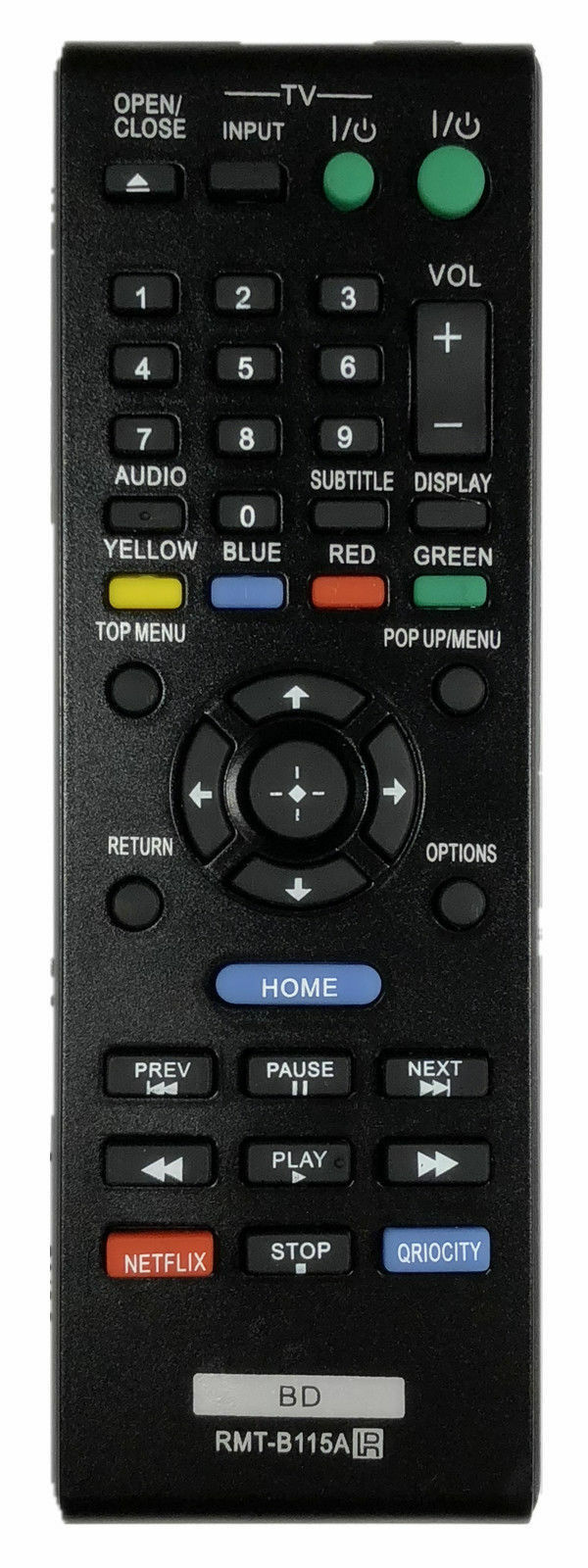NEW RMT-B115A Remote for Sony RMT-B119A DVD Blu-Ray Player B