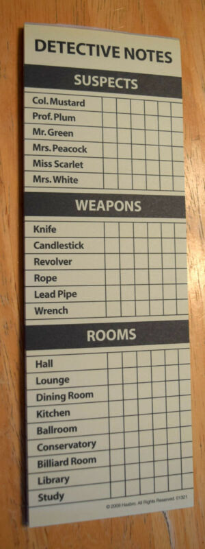 Clue Bookshelf Edition Board Game Replacement Parts /& Pieces 2012 PB Hasbro