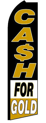 Cash For Gold Swooper Feather Flag