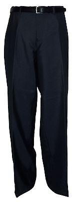 voeut formale da uomo PIANI ANTERIORI A SIGARETTA BLU Pantaloni per abito (