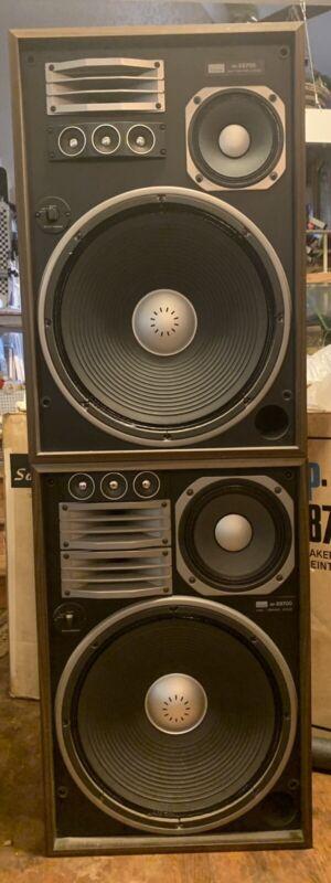 Vintage Sansui SP-X8700  4 Way 6 Speaker System (Pair) original boxes