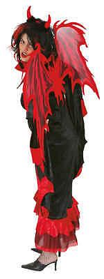 Orl - Flügel zum Teufel Kostüm rotschwarz Länge 112cm zu Halloween