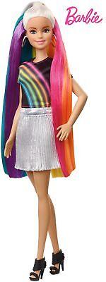 Barbie Destellos de Arociris, Muñeca rubia con cabello extra largo con acceso...